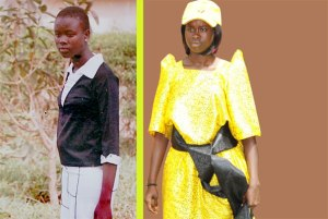 Left is Ms Alengot Oromait during her school days. The 19-year-old, yet to join university (R), could be the youngest MP in Africa(DAILY MONITOR)