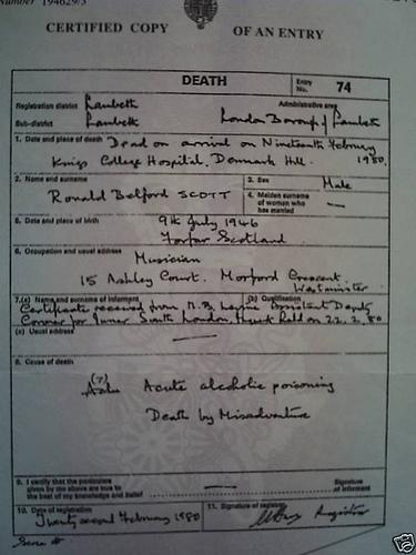 mutesa11's death certicate