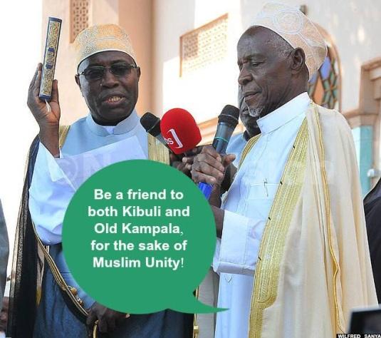 Sheikh Kasule being sworn in by Sheikh Ahmad Mukasa