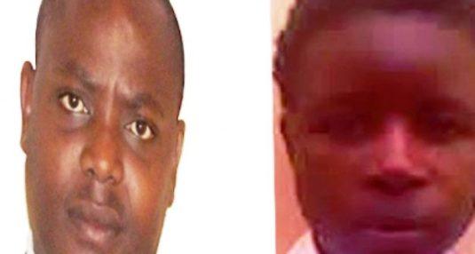 Minister Kibule and victim Obuku Hellen