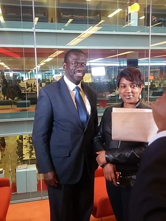 Dr Wrn Kizza-Besigye at the BBC studio.